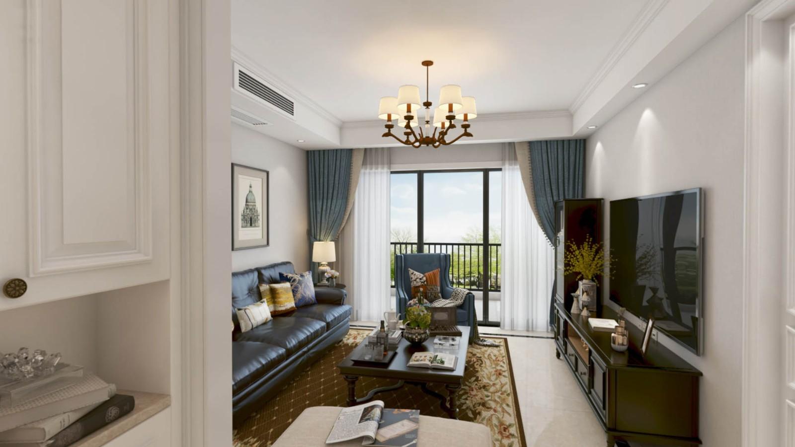 2020美式110平米裝修設計 2020美式樓房圖片