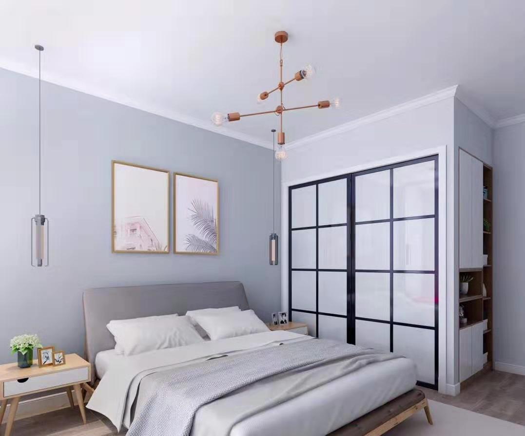 2019北欧卧室装修设计图片 2019北欧推拉门装修效果图大全