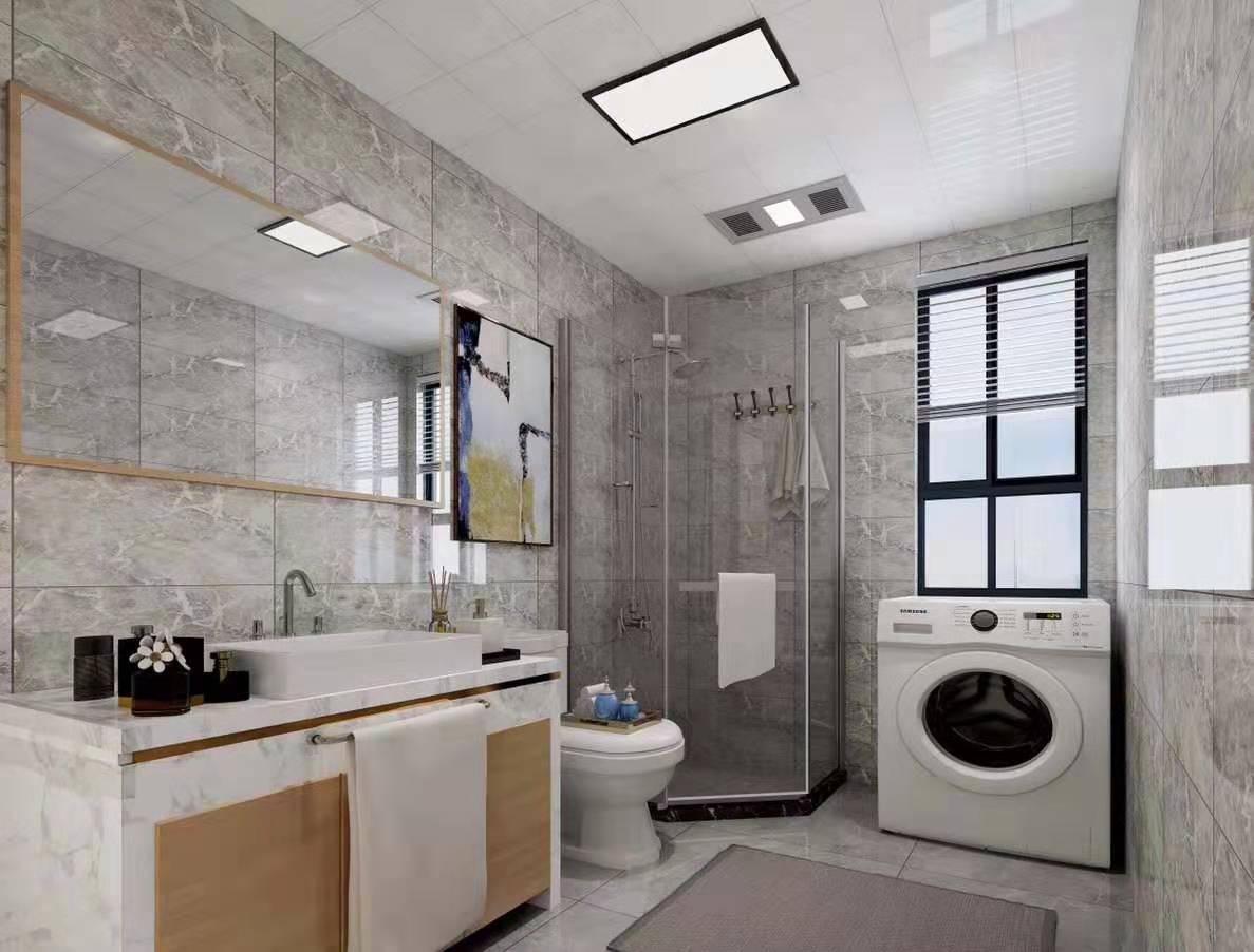 2020现代卫生间装修图片 2020现代浴室柜装修图