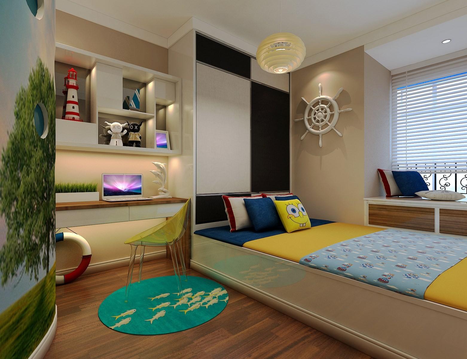 2020现代简约儿童房装饰设计 2020现代简约书架装饰设计