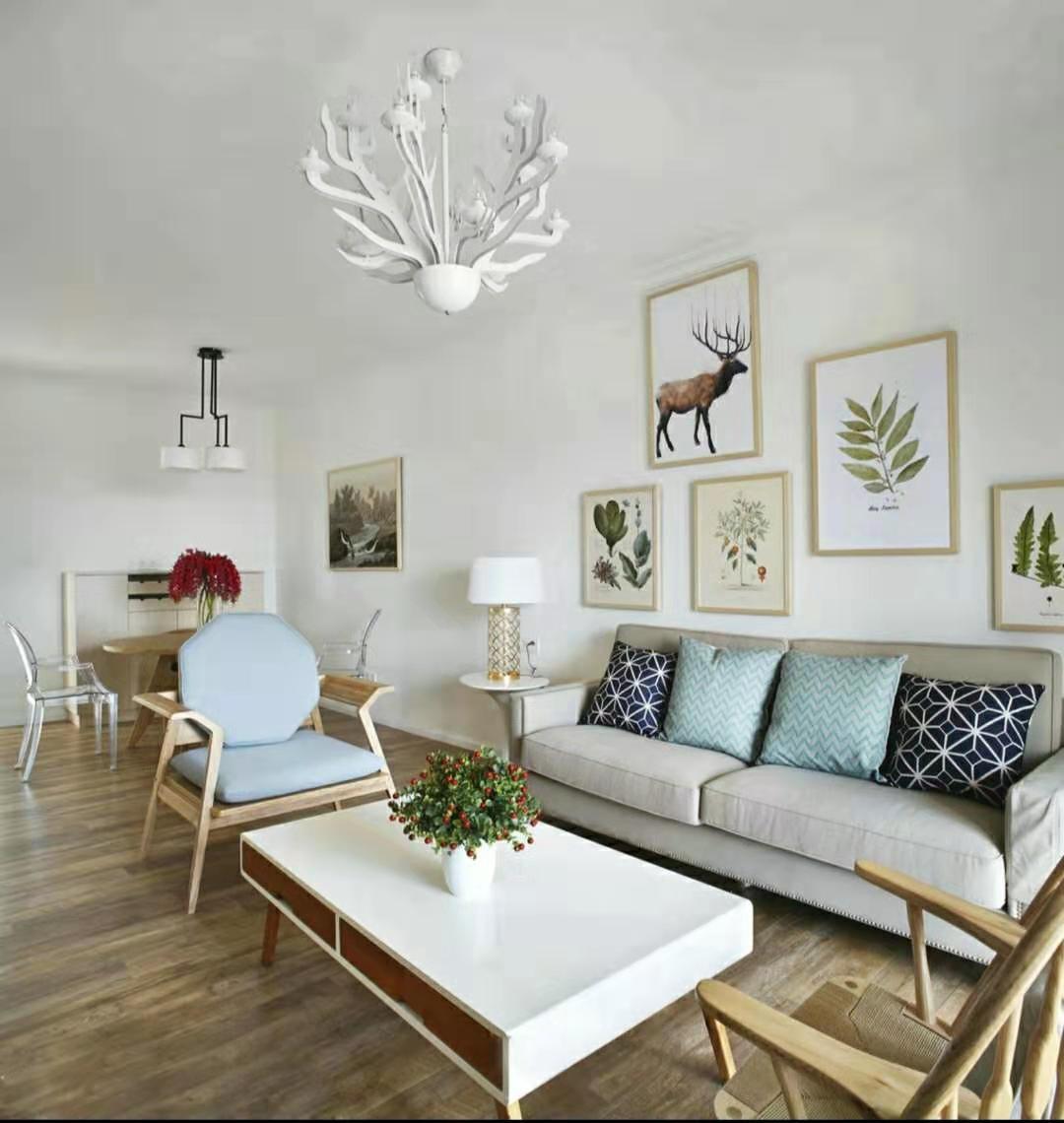2020現代簡約客廳裝修設計 2020現代簡約茶幾效果圖