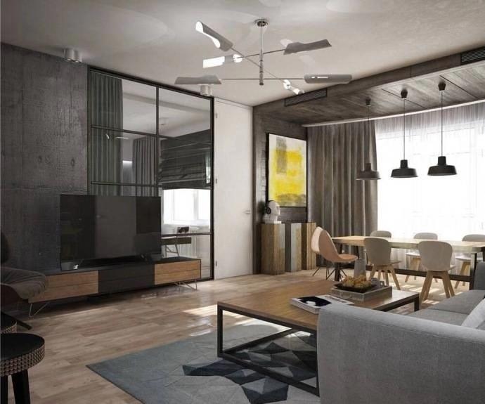 2020工業客廳裝修設計 2020工業茶幾效果圖