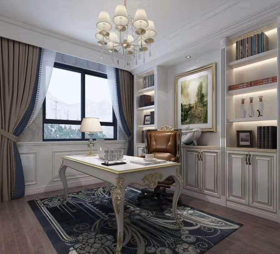 2020欧式书房装修设计 2020欧式书桌图片