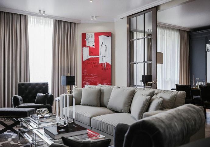 3室2卫2厅120平米美式风格
