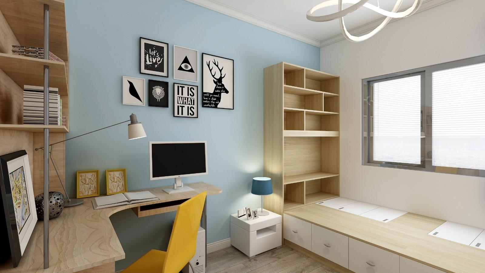 2020现代简约儿童房装饰设计 2020现代简约衣柜设计图片