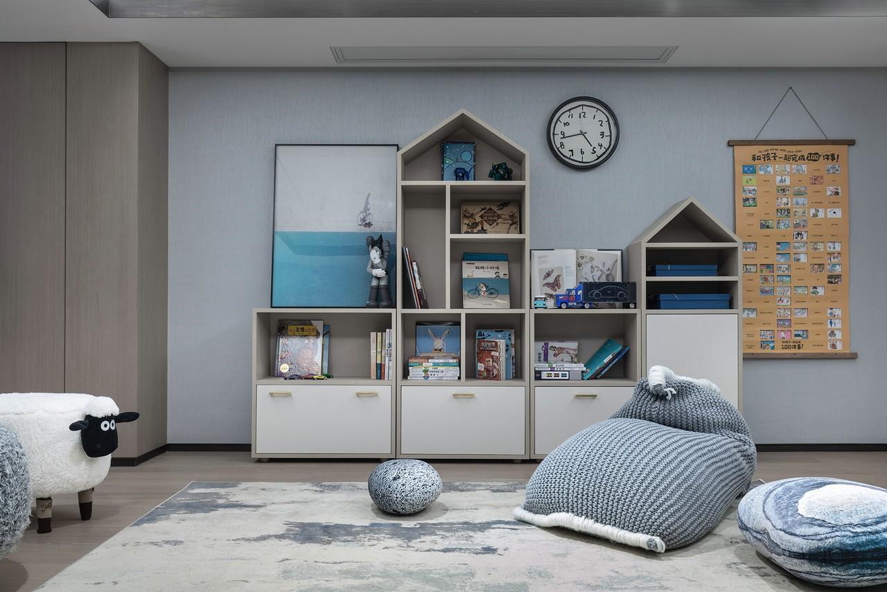 2020新中式儿童房装饰设计 2020新中式书架装饰设计