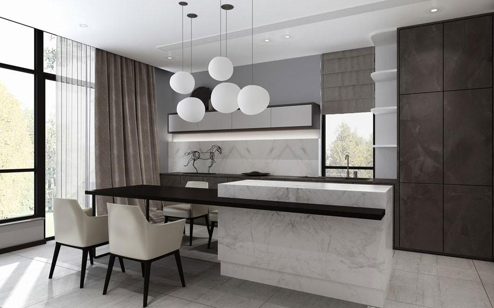 2020新中式廚房裝修圖 2020新中式廚房島臺裝飾設計