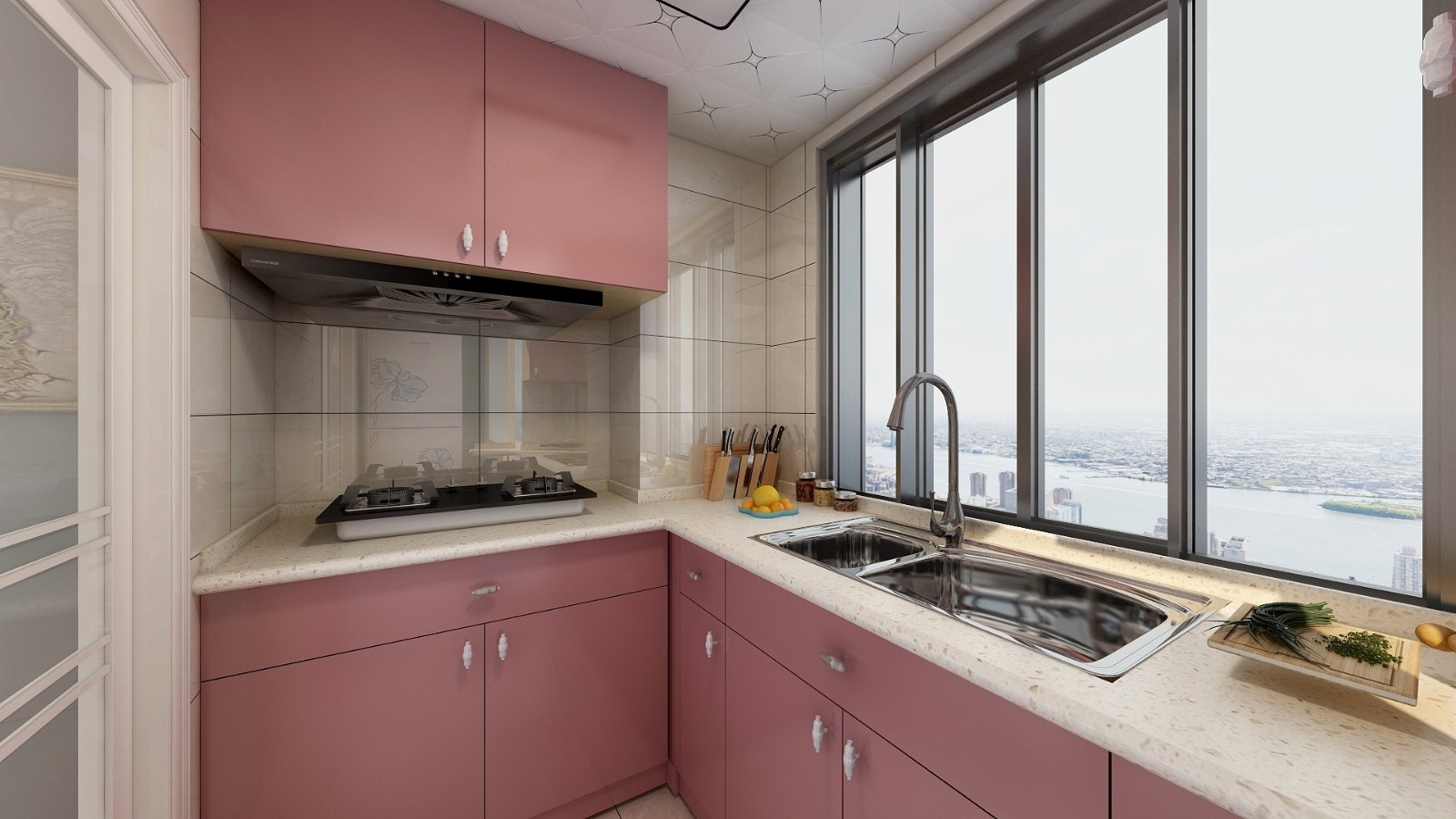 2020簡歐廚房裝修圖 2020簡歐灶臺裝修圖片