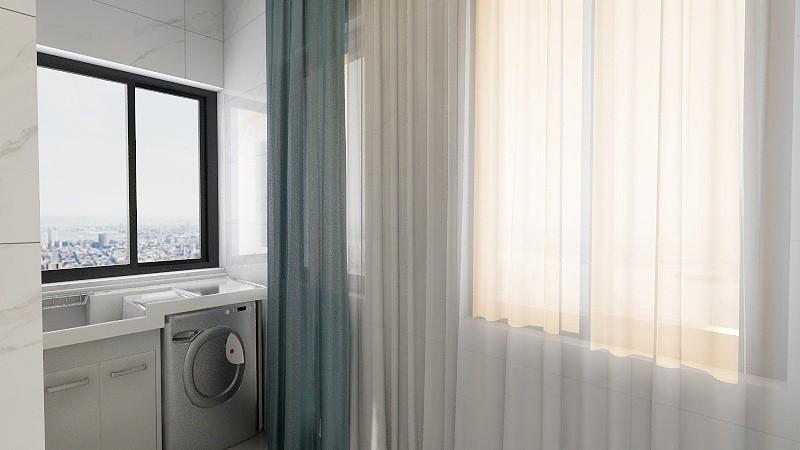 2020新中式阳台装修效果图大全 2020新中式窗帘装修设计