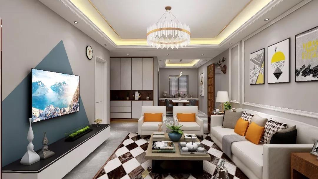 3室1卫1厅120平米现代简约风格