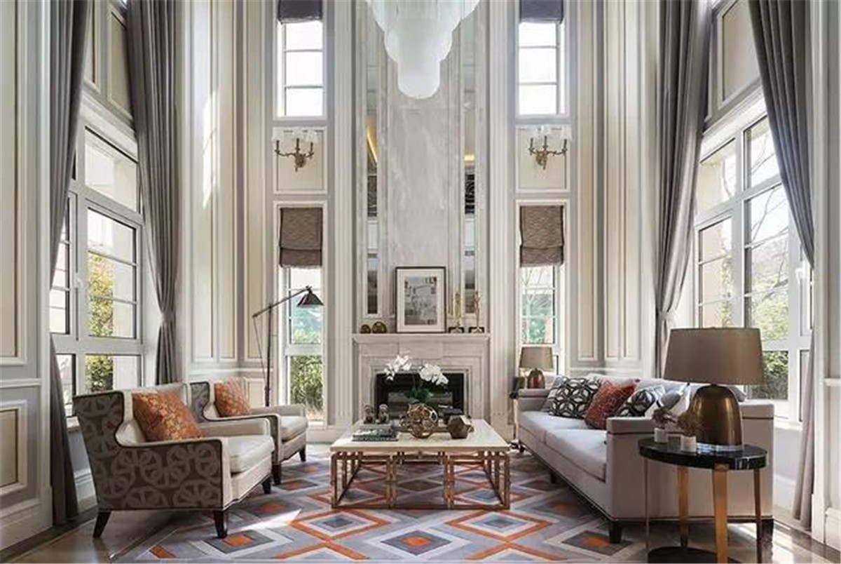 2020法式300平米以上裝修效果圖片 2020法式別墅裝飾設計