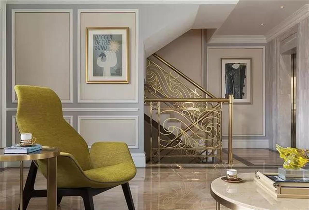 2020法式起居室裝修設計 2020法式背景墻裝修設計圖片