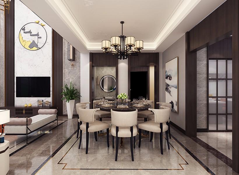 2020新中式300平米以上裝修效果圖片 2020新中式別墅裝飾設計