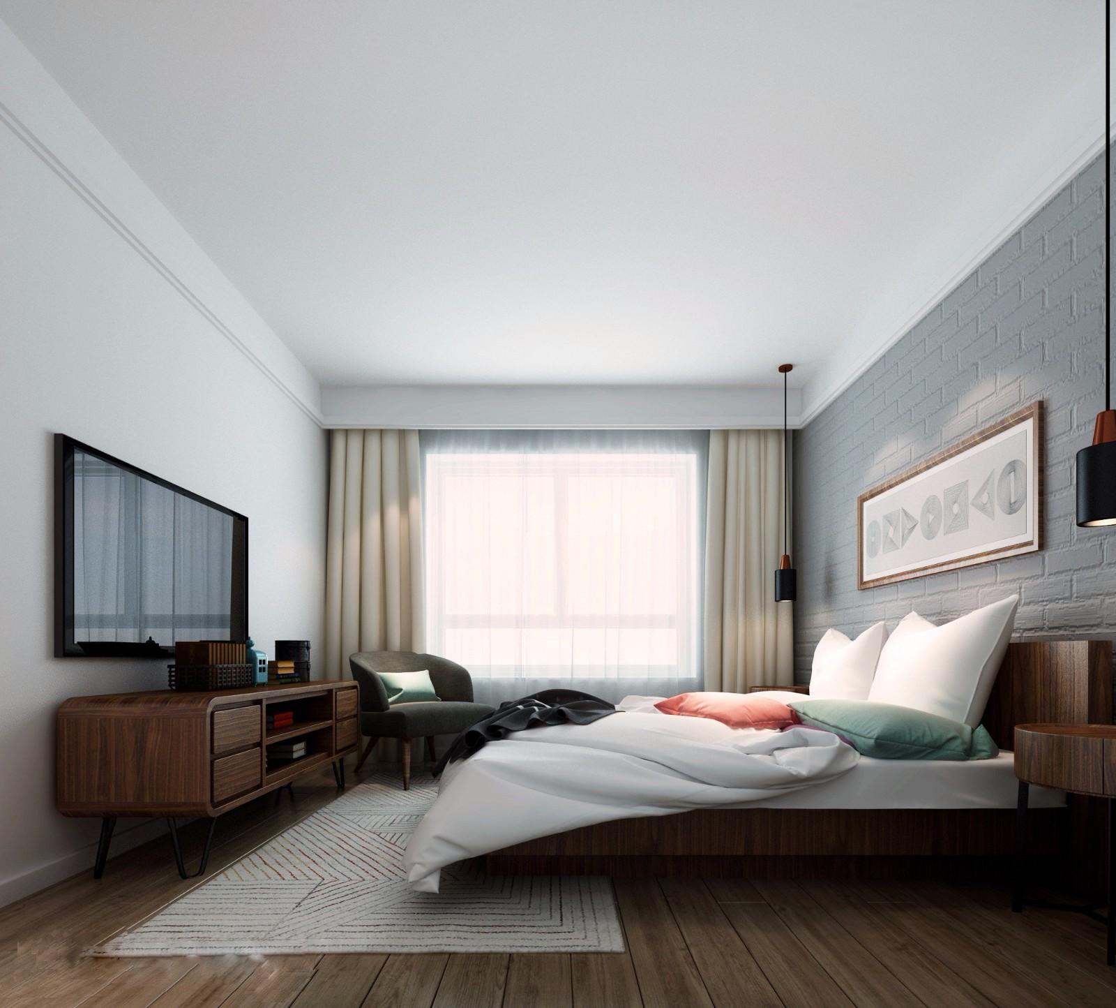 2020北歐臥室裝修設計圖片 2020北歐電視柜效果圖
