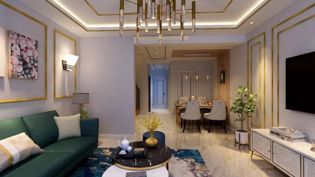 3室1卫1厅130平米地中海风格