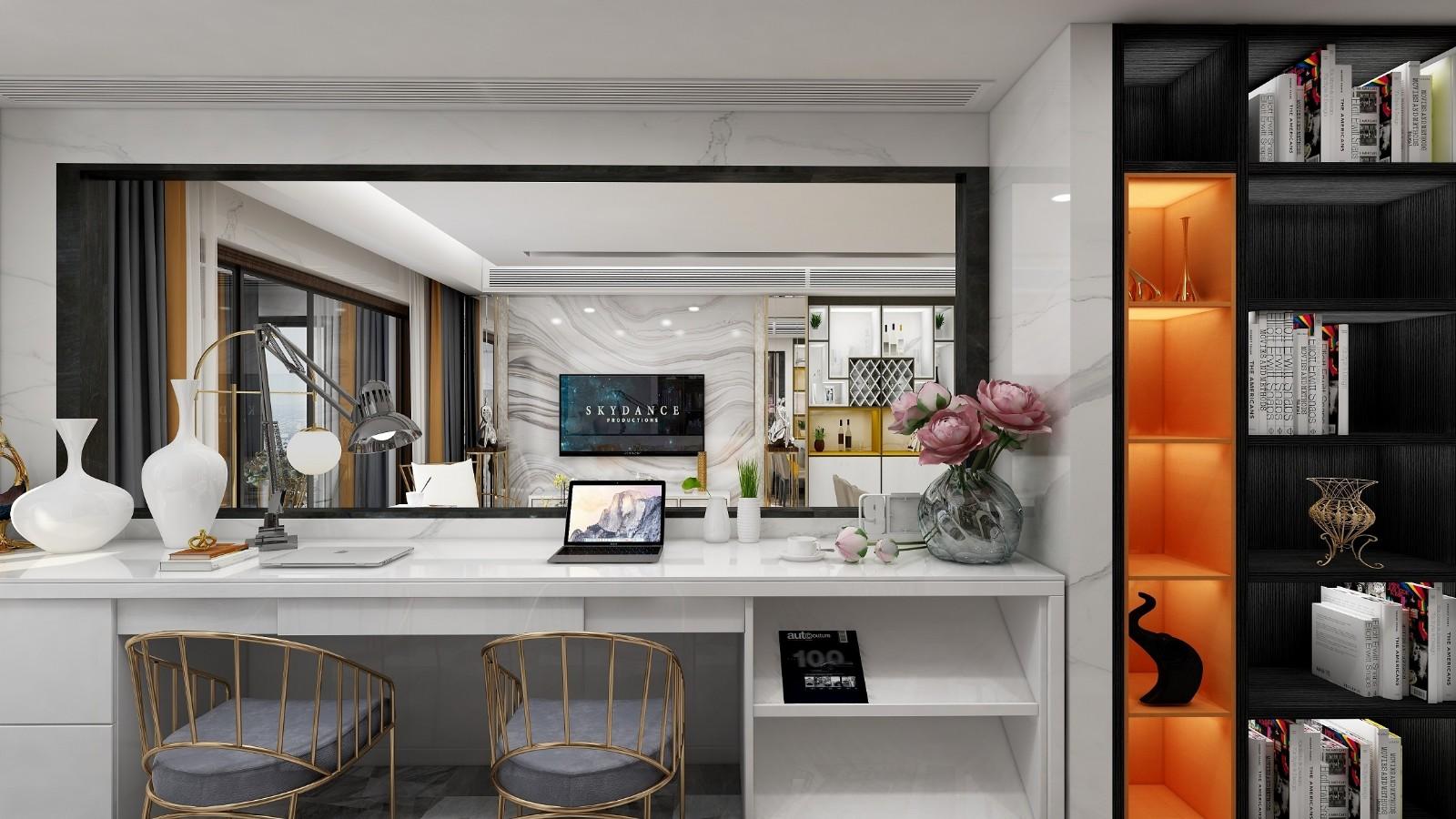2020現代書房裝修設計 2020現代書桌圖片