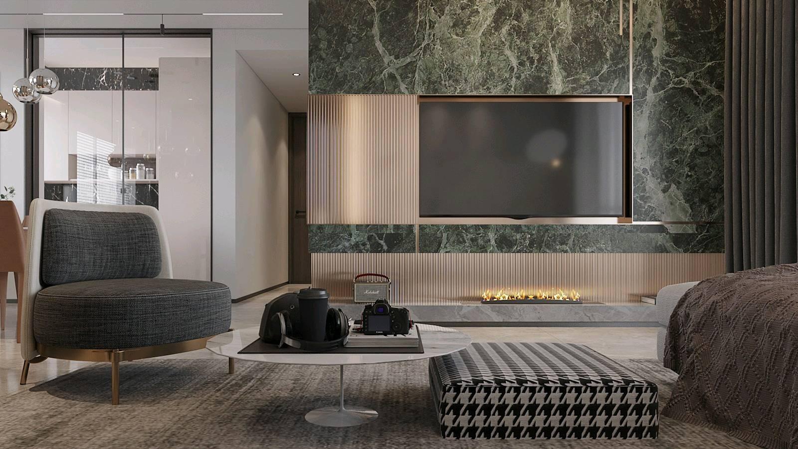 2020后现代客厅装修设计 2020后现代电视背景墙装修设计图片