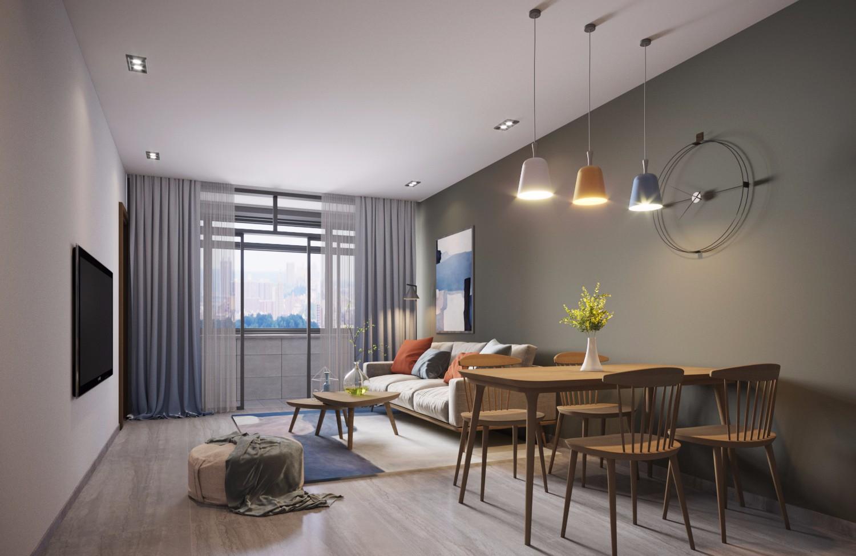 2室1卫1厅70平米北欧风格