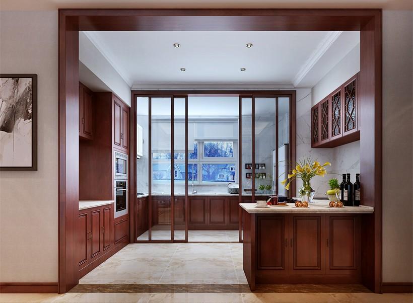 2020新中式廚房裝修圖 2020新中式推拉門裝修設計