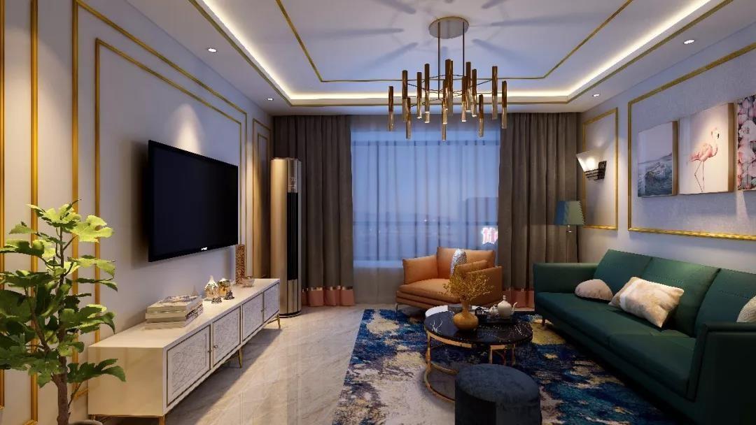 3室1卫1厅156平米美式风格