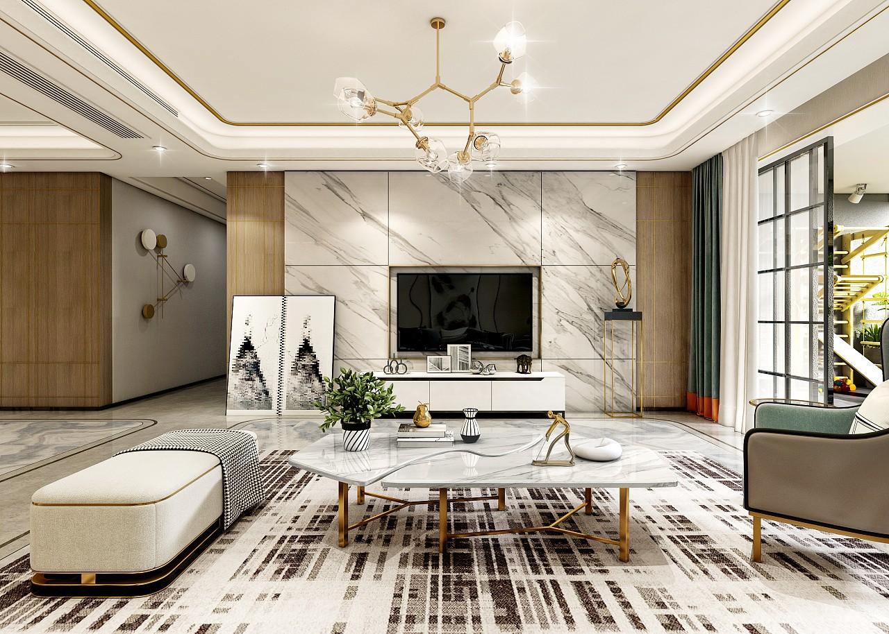2021后现代240平米装修图片 2021后现代四居室装修图