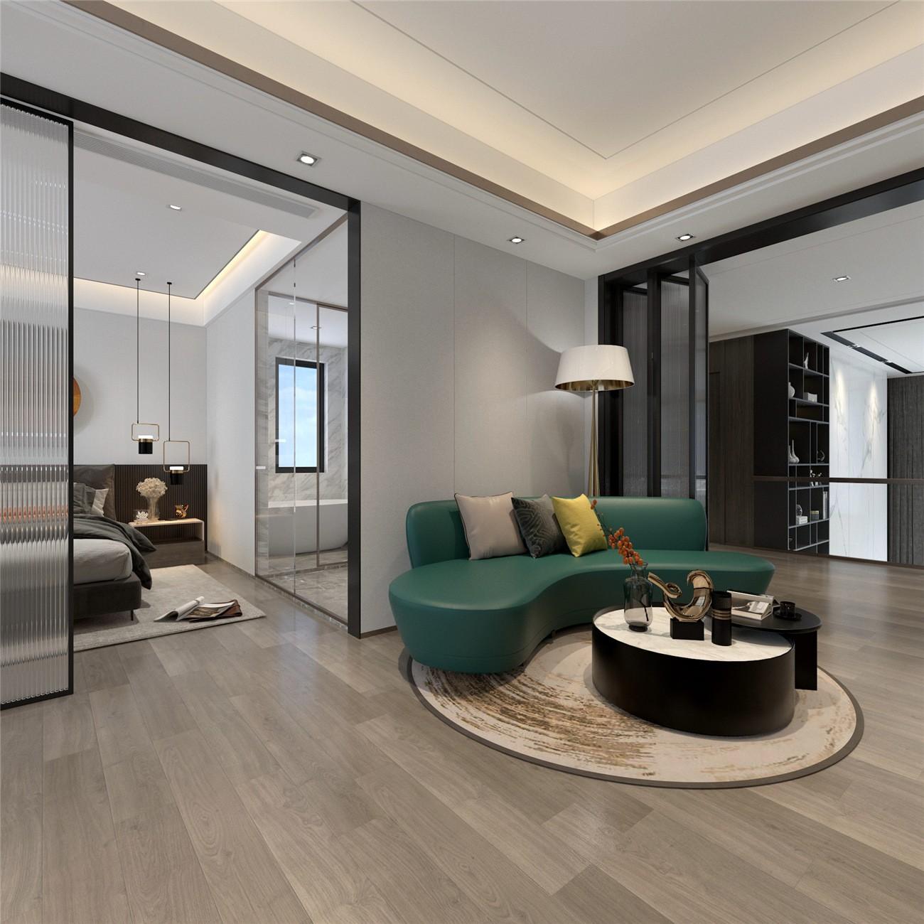 2020中式起居室裝修設計 2020中式背景墻裝修設計圖片