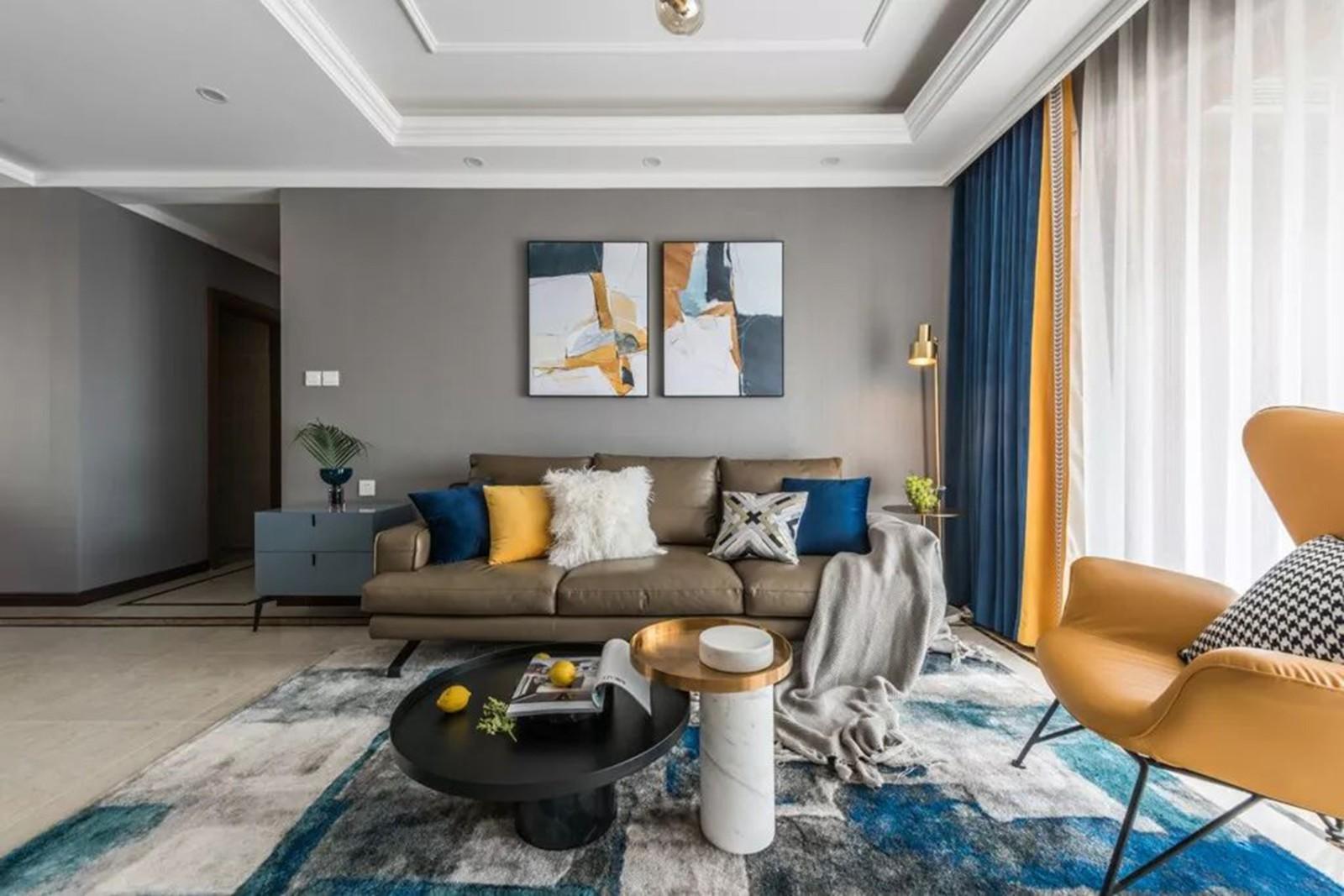 海量大都汇  125㎡三室现代简约风,舒适惬意,配色超好看1