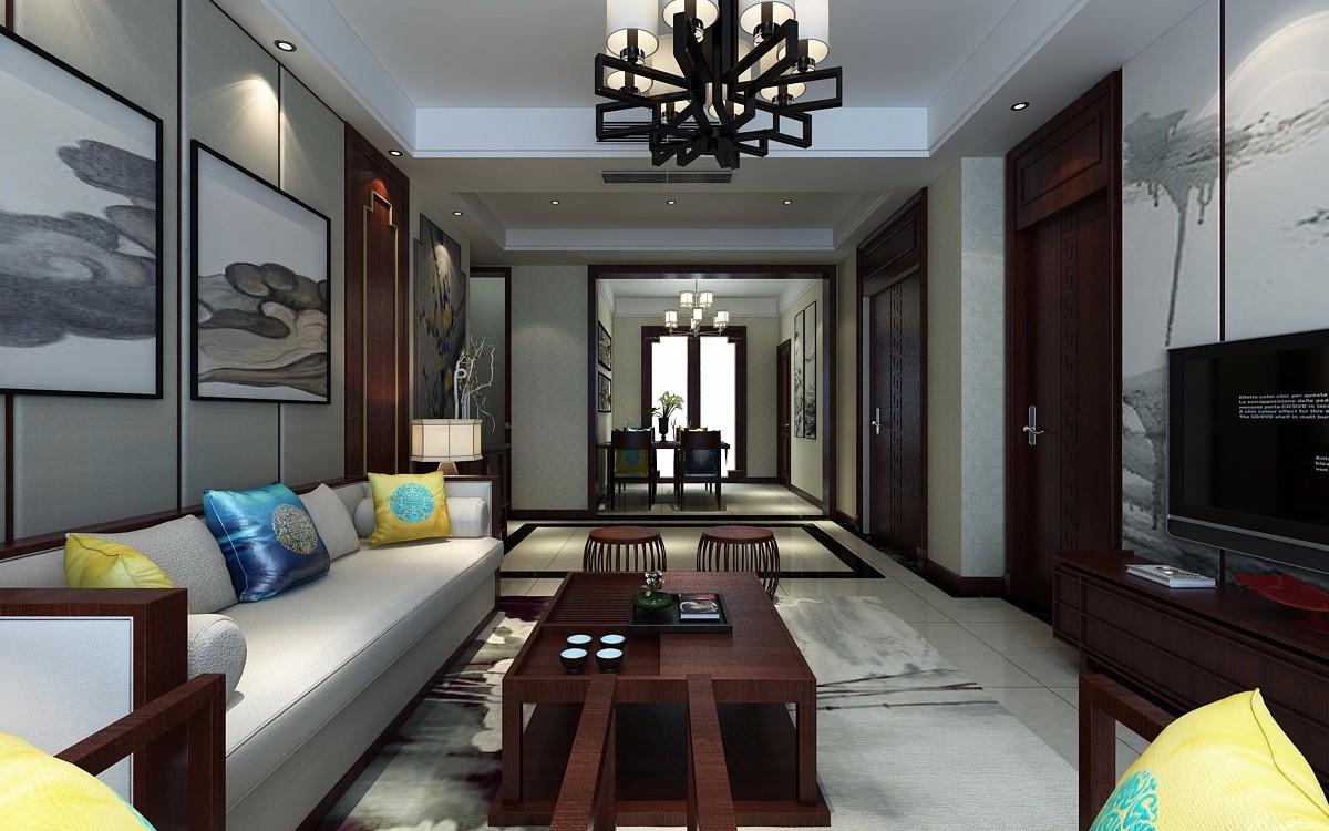 2020新中式客厅装修设计 2020新中式灯具图片