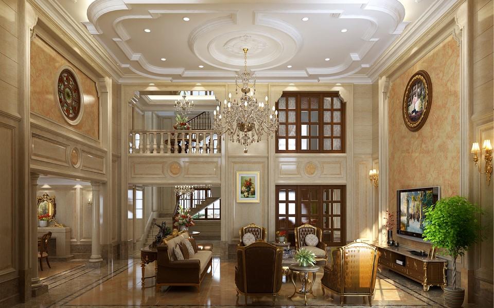 2020歐式300平米以上裝修效果圖片 2020歐式別墅裝飾設計