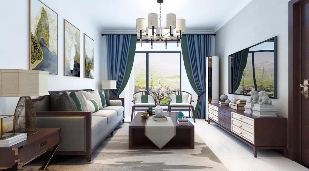 3室1卫2厅110平米新中式风格