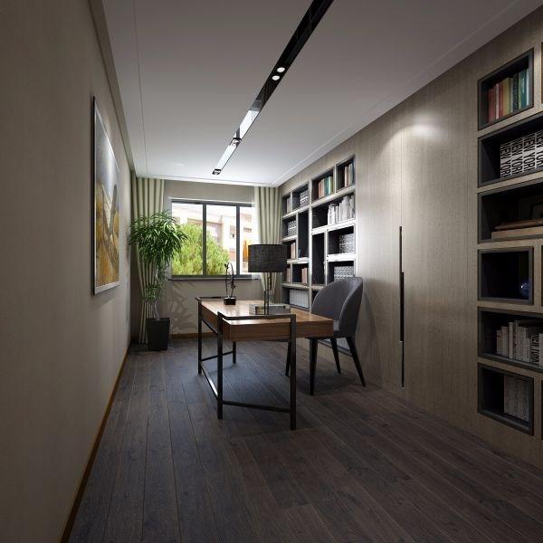 2020现代简约书房装修设计 2020现代简约书架装修图