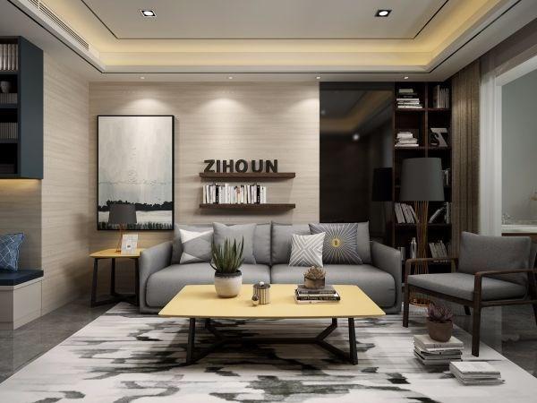 2020现代简约客厅装修设计 2020现代简约地砖装修效果图大全