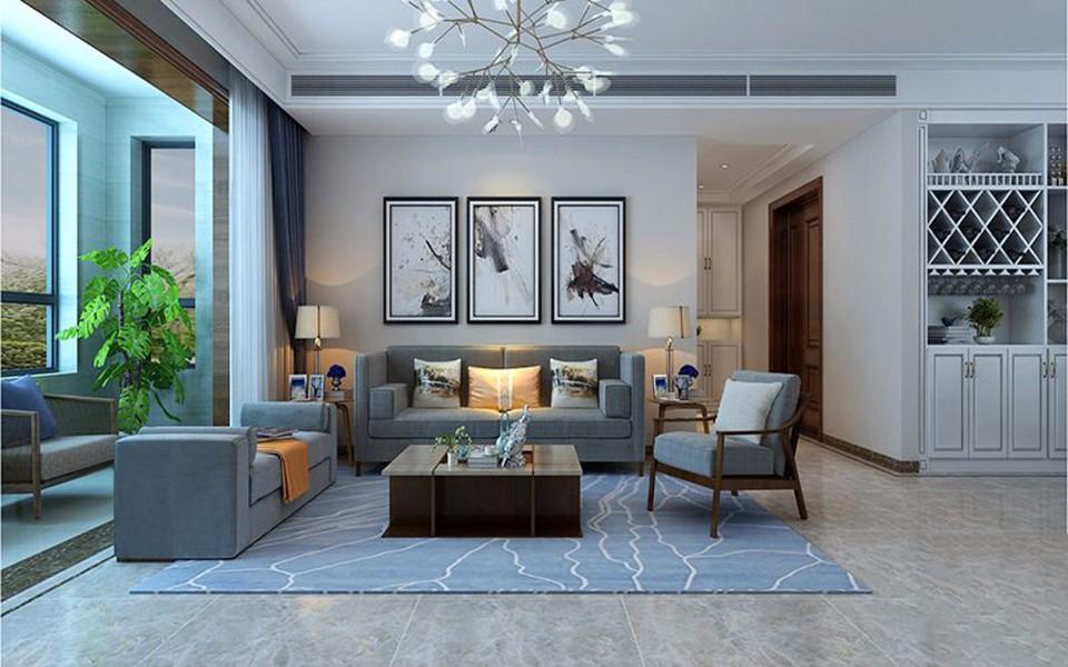 2020新中式客厅装修设计 2020新中式照片墙装修效果图大全