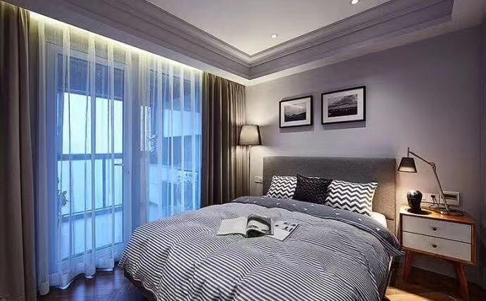 2020现代卧室装修设计图片 2020现代照片墙装修图