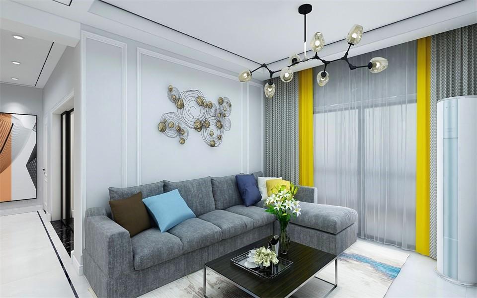 2020北欧客厅装修设计 2020北欧窗帘装修效果图片