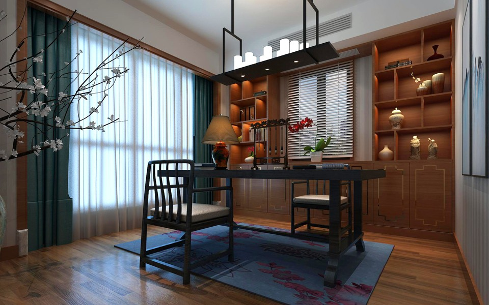 2020新中式书房装修设计 2020新中式细节装饰设计