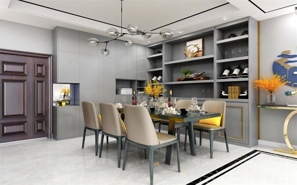 2020现代餐厅效果图 2020现代走廊装修设计图片