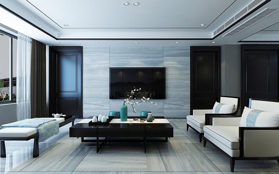 2020現代中式150平米效果圖 2020現代中式三居室裝修設計圖片