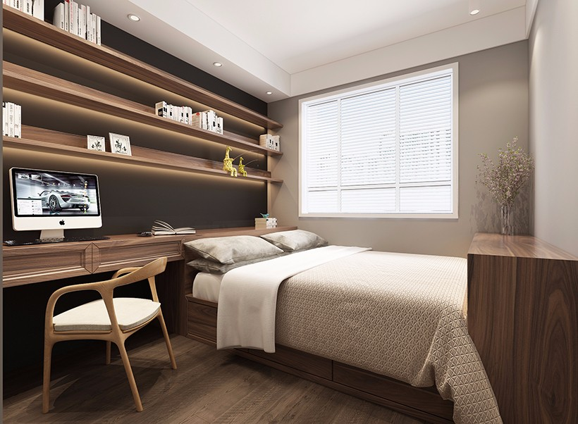 2020新中式書房裝修設計 2020新中式書桌圖片