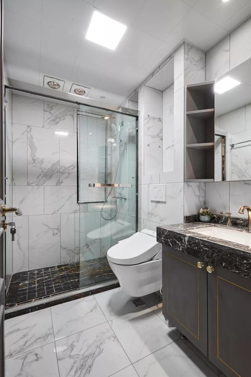 2020新古典卫生间装修图片 2020新古典洗漱台装饰设计