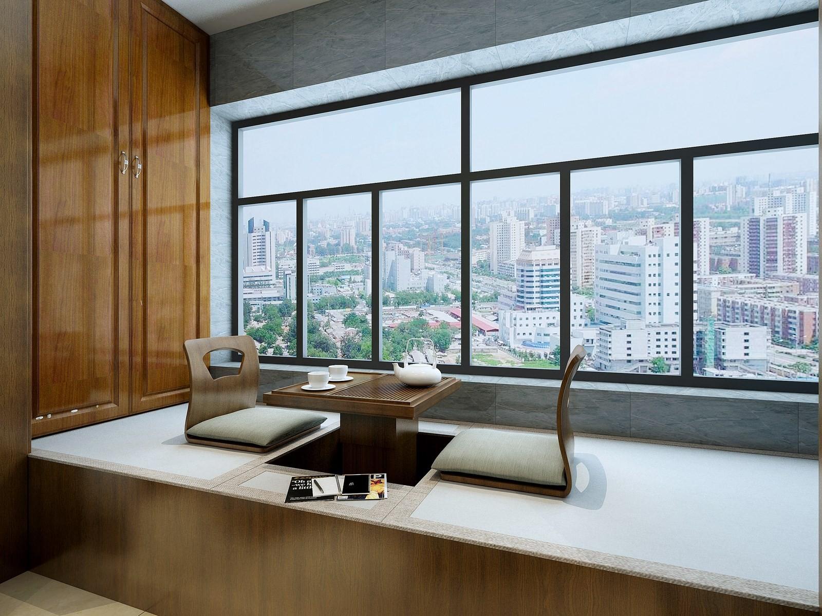 2020中式阳台装修效果图大全 2020中式榻榻米装饰设计