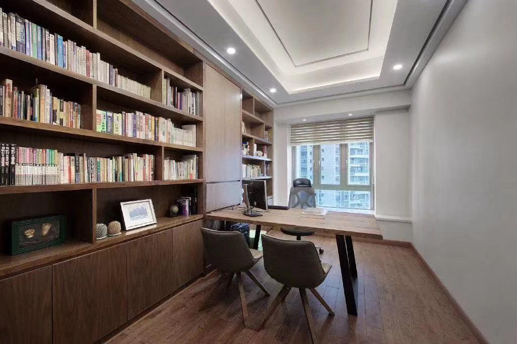 2020新中式书房装修设计 2020新中式书架装修图