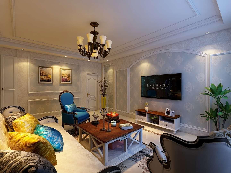 2020美式客厅装修设计 2020美式照片墙装修效果图大全