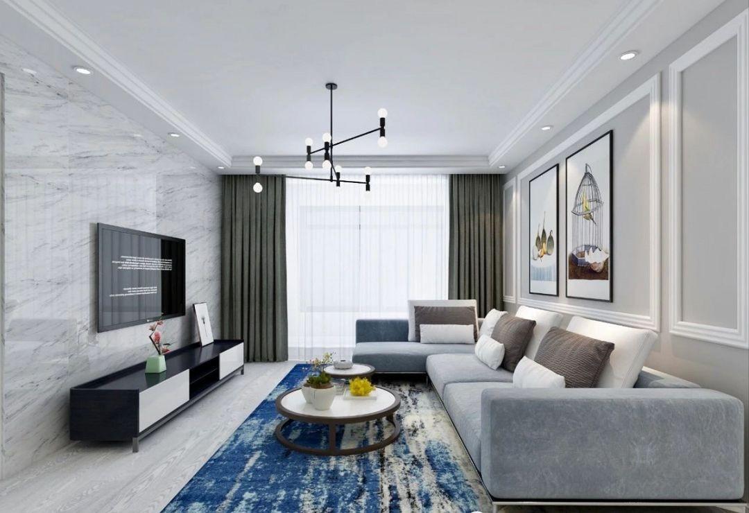 3室1卫1厅91平米现代风格