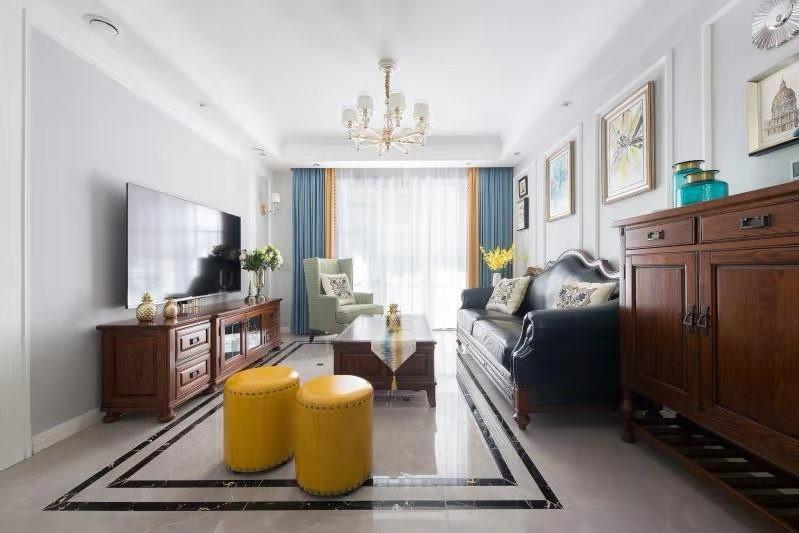 3室1卫2厅104平米美式风格