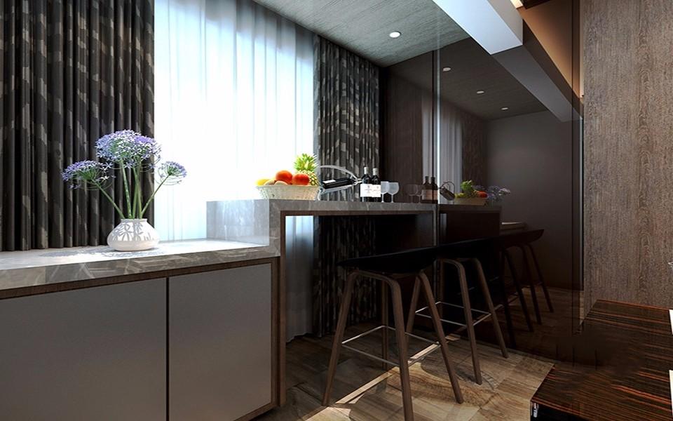 2020现代简约餐厅效果图 2020现代简约吧台装修效果图大全