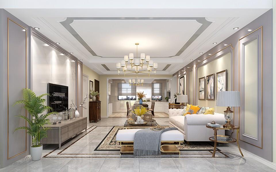 2020美式240平米装修图片 2020美式三居室装修设计图片