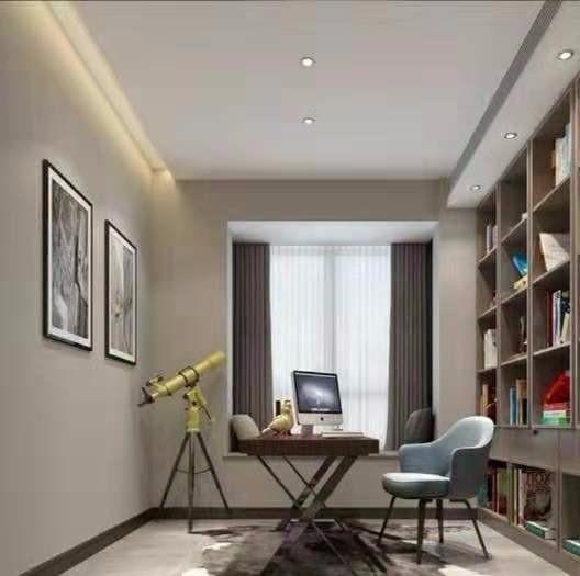 2020现代书房装修设计 2020现代书架装修图