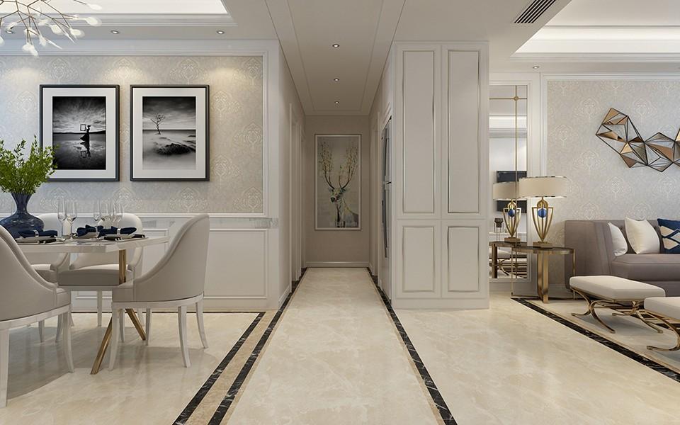 2020简欧客厅装修设计 2020简欧走廊装修效果图大全