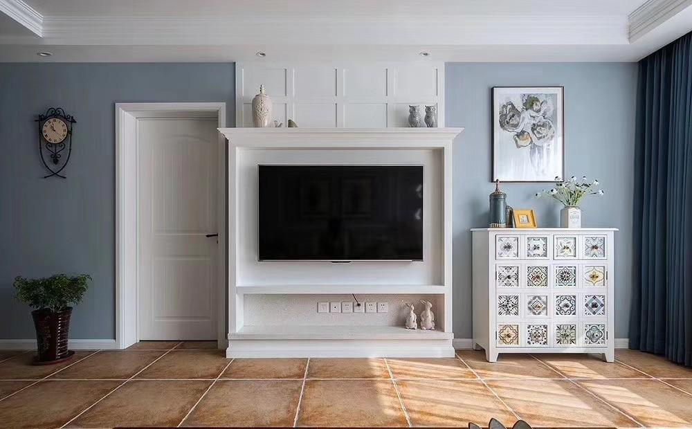 2020歐式客廳裝修設計 2020歐式電視柜裝修效果圖片